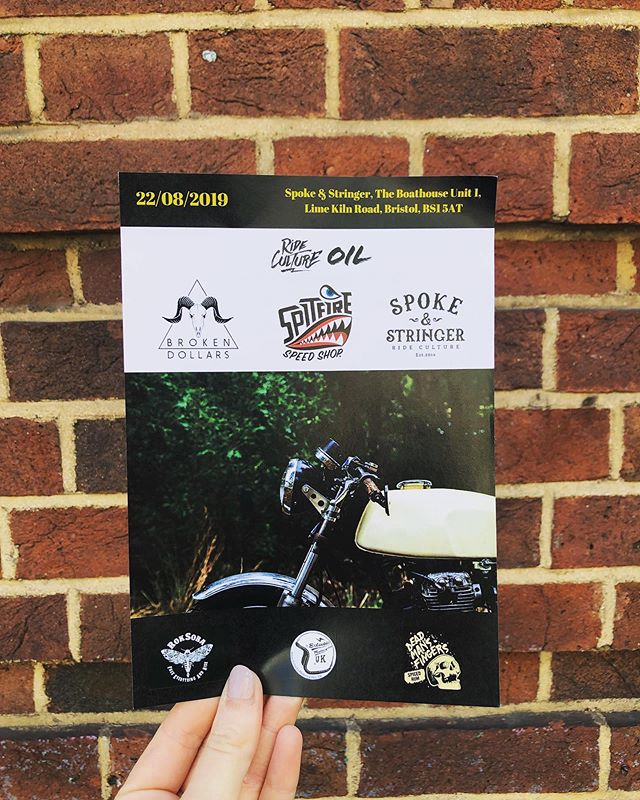 Who's got their tickets?! Tomorrow night we are hosting a Motorcycle Event with Spitfire Speed Shop & Broken Dollars! £10 - drink on arrival and Spoke & Stringer streetfood included! https://www.eventbrite.co.uk/e/spitfire-speed-shop-bristol-tickets-63556967601 - Everyone's welcome - see you there ⚡️ Also featuring... @roksoba @eclecticmotorcycles @deadmansfingers #spokeandstringer #rideculture #bristol