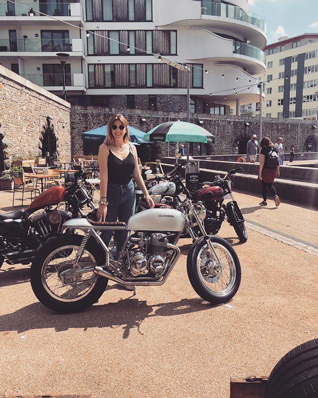 She likes this one - @spitfirespeedshop Honda #custom #rideculture #spokeandstringer #spitfirespeedshop #motorcycle