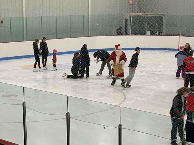 Santa visiting Special Skate Program!!!!