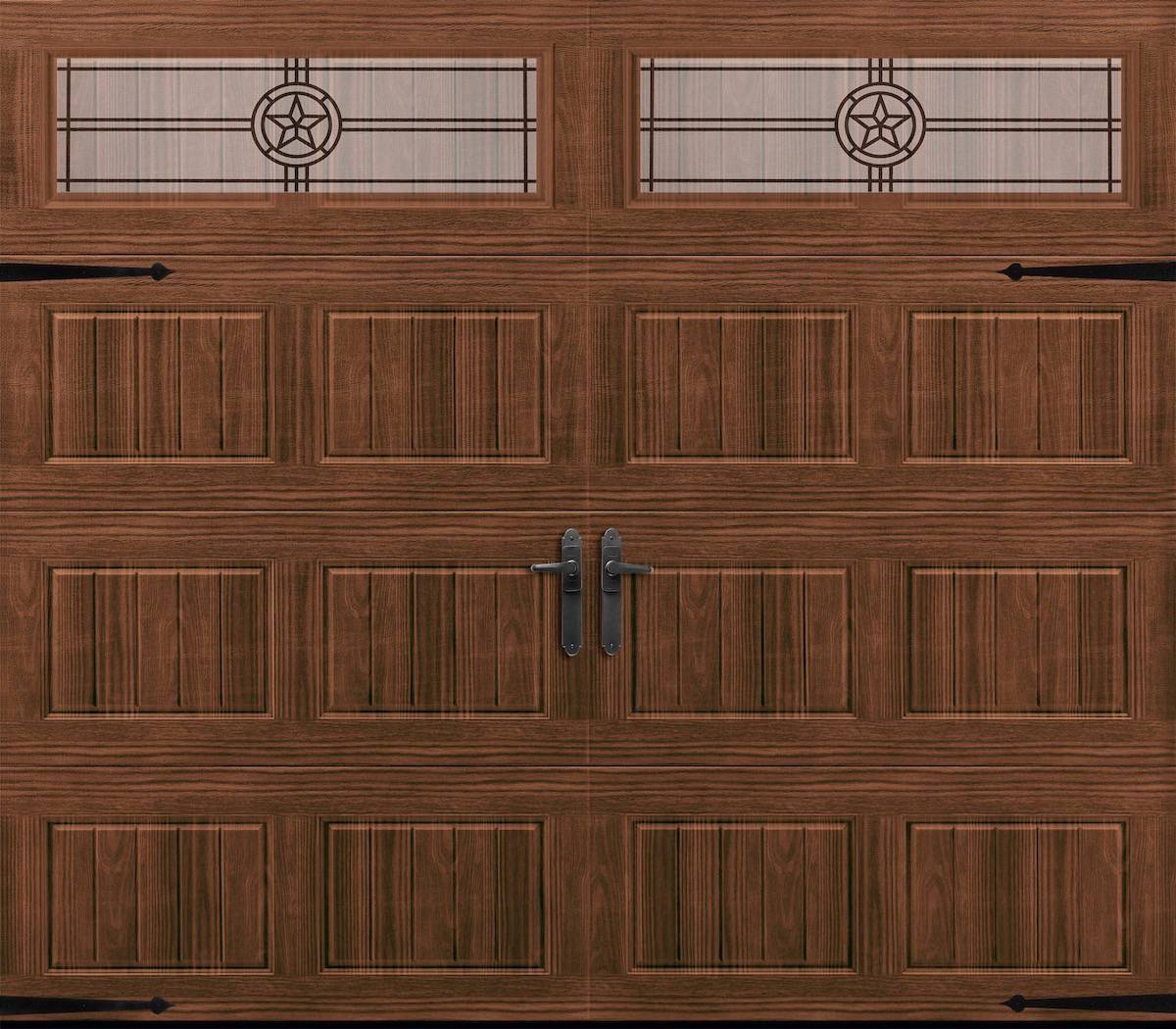 Hillcrest Collection - The Amarr Hillcrest Collection offers four carriage house designs in 7 colors and 3 woodgrain choices.8x7 starting at $659.4916x7 starting at $968.38