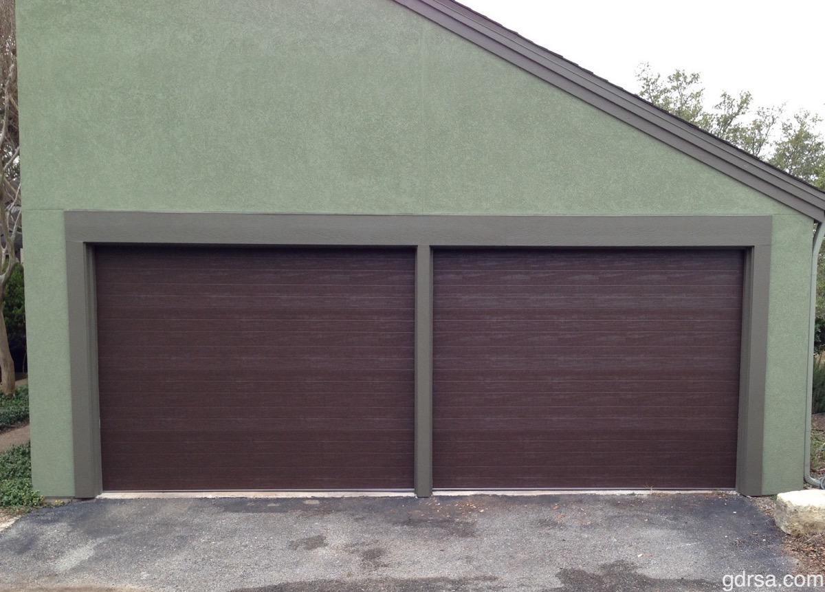 (2) 9x7, Amarr Heritage, Ribbed Panel, Dark Brown Color