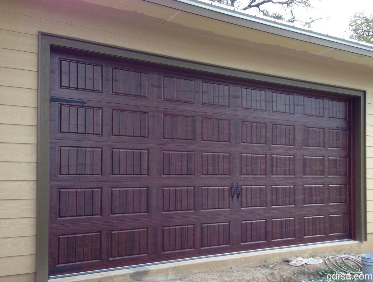 Size:  16x8   Collection: Amarr Oak Summit   Color: Mahogany   Style: Short Panel Bead Board   Decorative Hardware: Castle Rock Magnetic