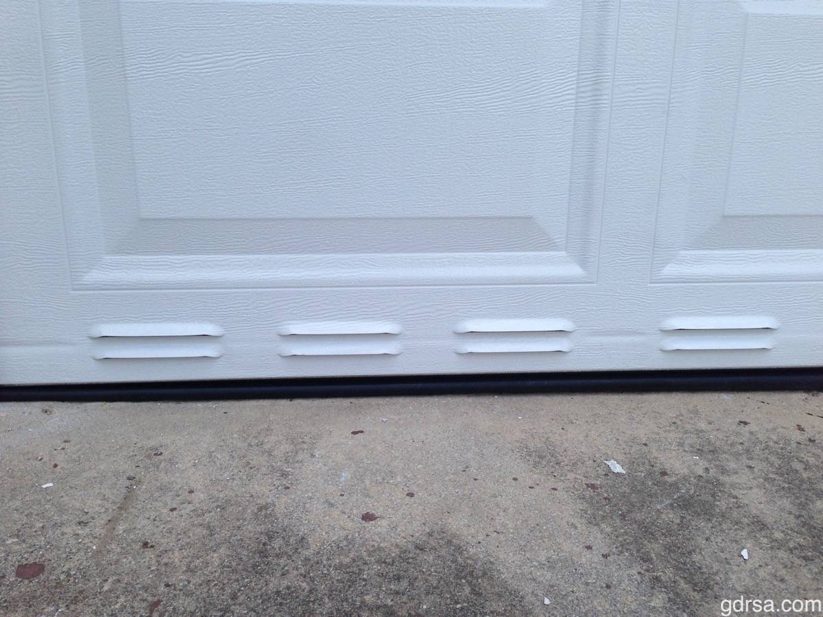Amarr Louvered Vented Bottom Garage Door Section