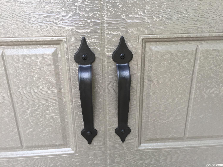 """Castle Rock Magnetic 12"""" Handles - Decorative Garage Door Hardware"""