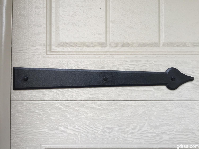 """Castle Rock Magnetic 16"""" Hinges - Decorative Garage Door Hardware"""