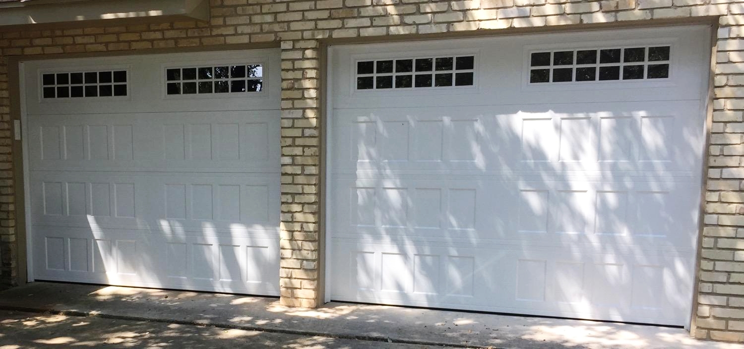 8x7 and 9x7, Amarr Designers Choice, Recessed Panel, White Color, Stockton Windows