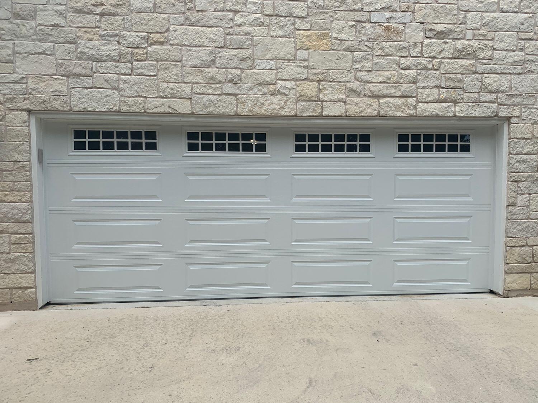 "17'8"" x 7', Amarr Heritage 3000, Long Panel, White Color, Stockton Windows, White Vinyl Trim"