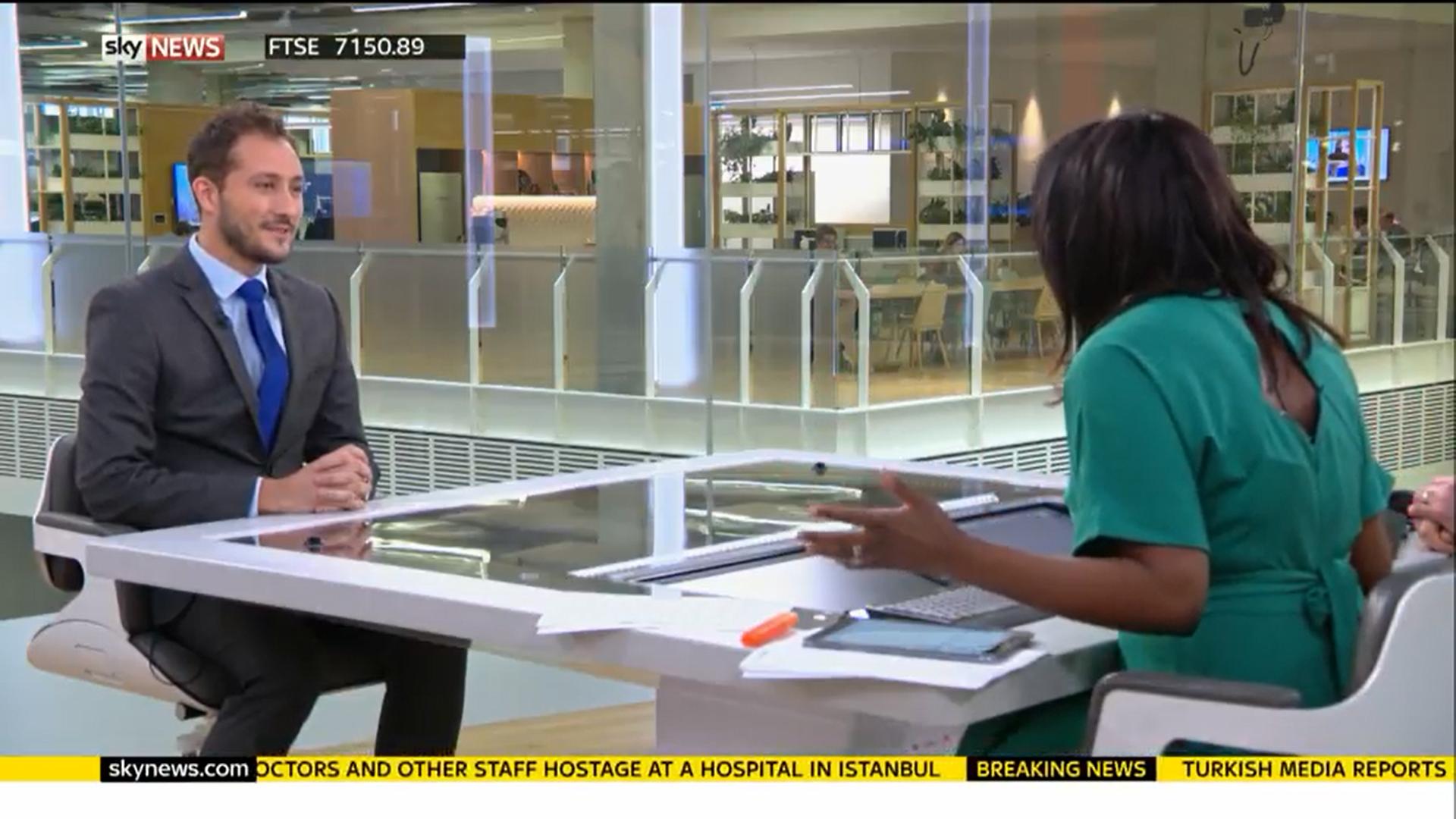 Joe Blackman //Sky News