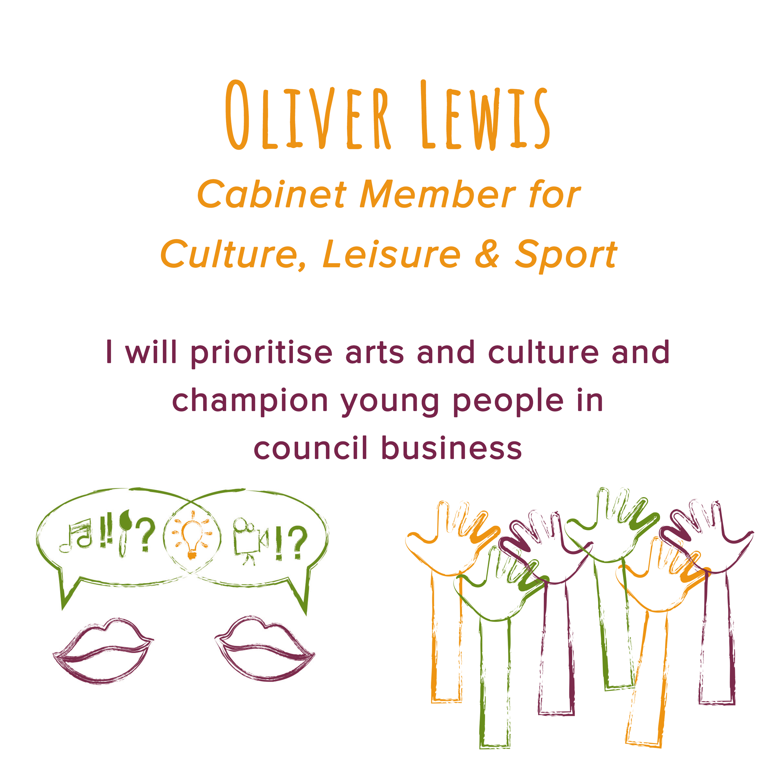 February 2018   Oliver delivered a speech at full council in which he spoke about the importance of investing in culture and in our young people.