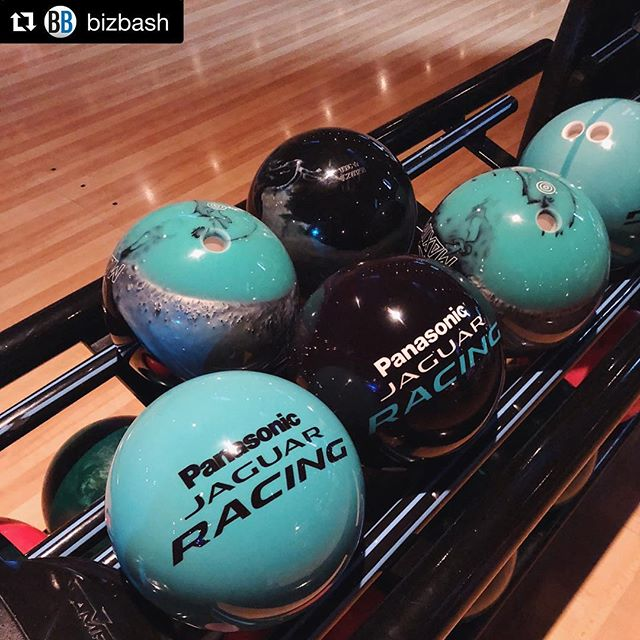 About last night... we had a blast branding bowling balls! 🎳  Good luck to the @jaguarracing team today! 🏎🏎🏎 #Repost @bizbash ・・・ Ahead of this weekend's @fiaformulae in Red Hook, @jaguarusa took over @brooklynbowl for a festive evening of activities to introduce the @jaguarracing team to media. From bowling balls and socks to display screens, everything was awash in the company's signature teal. #NYCEprix #JaguarElectrifies #bizbash Photo by @jshi809