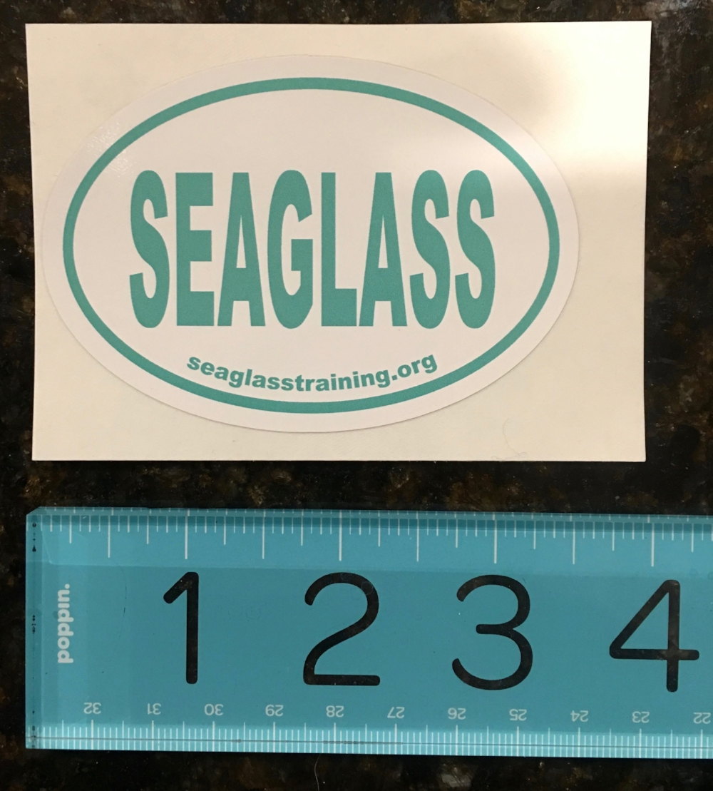 - Need a sticker for your laptop? Your office? Your car? Send me an email with a mailing address (promise, no mailing lists) and I'm happy to send you one!email: seaglasstraining@gmail.com