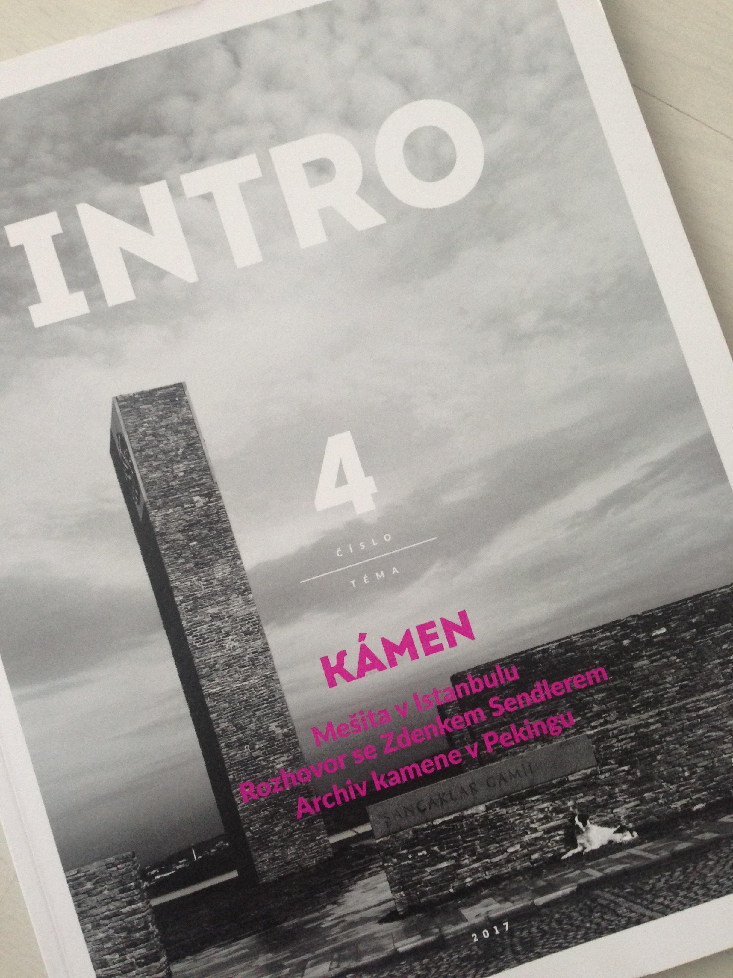 Článek v časopise INTRO - téma kámen -