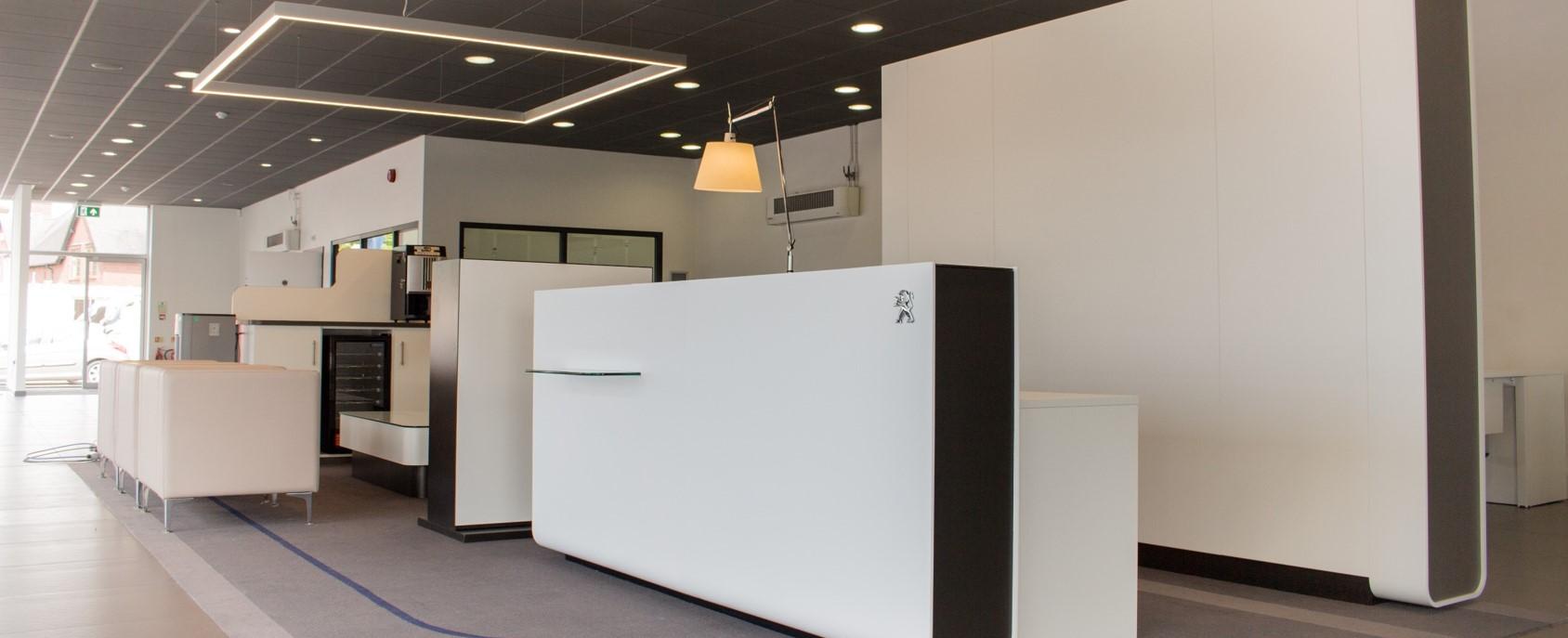 showroom interior design peugoet