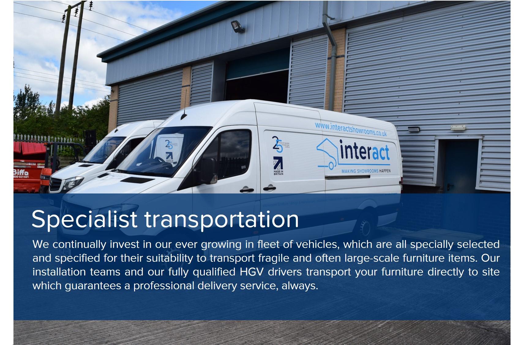 showroom design specialist transportation