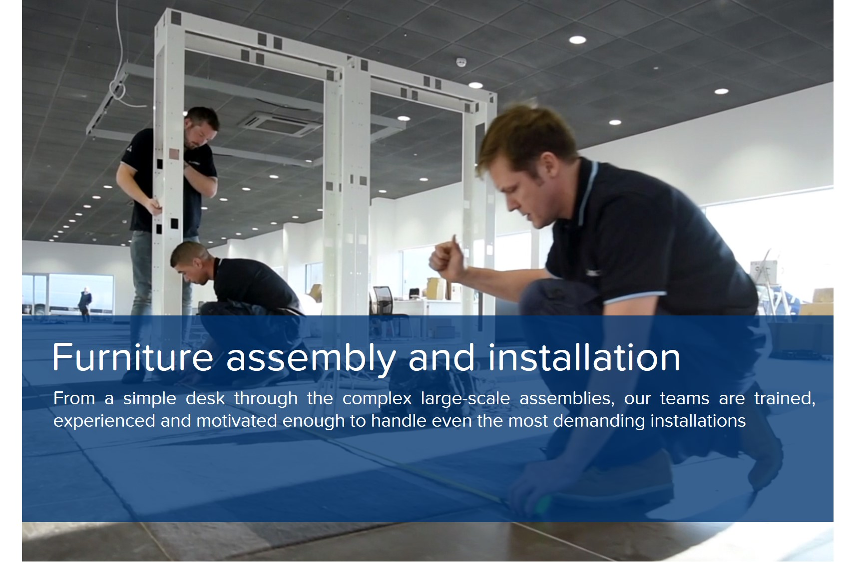 showroom design furniture assembly installation