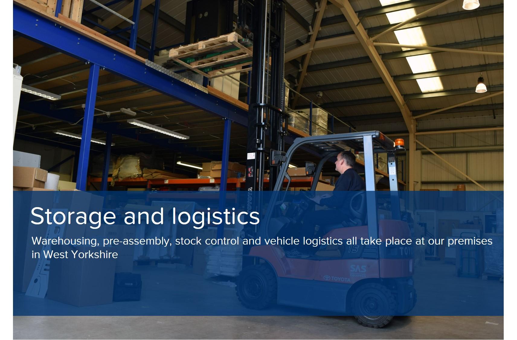showroom design storage logistics