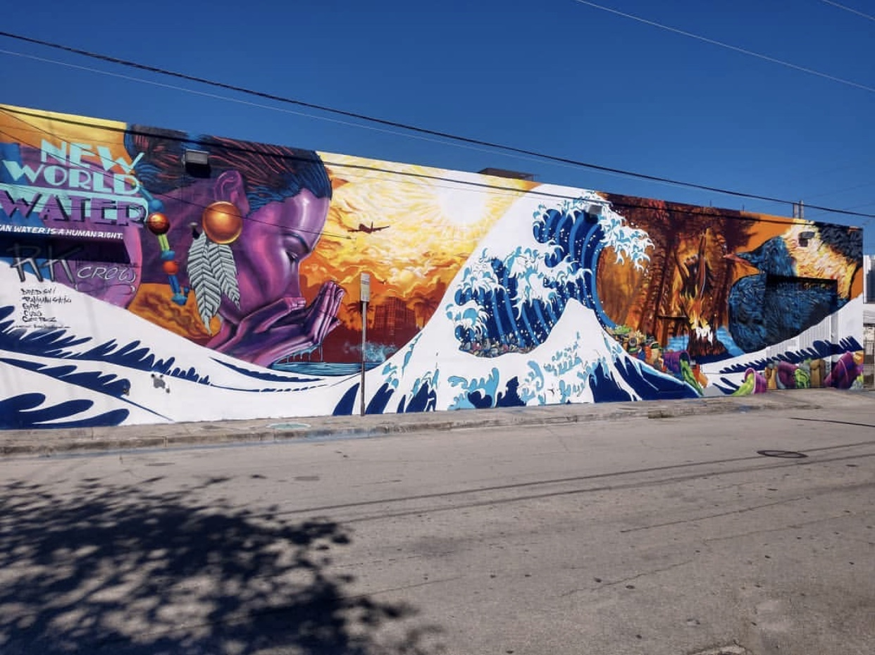 "Joe Nelson (aka "" @cujodah "") and 4 other members of his street art crew  @tha_rk_mob  flexed on this massive wall in the Wynwood Arts District in Miami during art basel! They painted for 3 days straight (stopping for the occasional shower, food, and social break)."