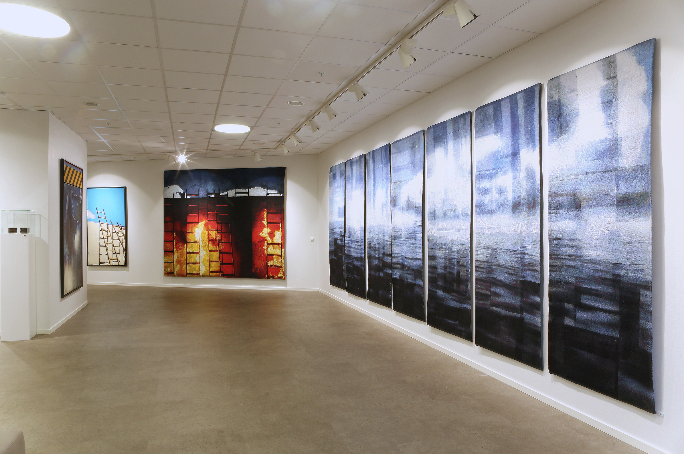 Installation: Replika / Galleri Fineart / Oslo / Nov 2014    Inner Peace ( Post-Traumatic ) Tapestry,  Collection of Oxar Eiendom / Oslo  Venia / Reservoir / Moonlight Tapestry , Collection Per Fronth Studios   PDF: eCatalogue Replika / Galleri Fineart / 2017
