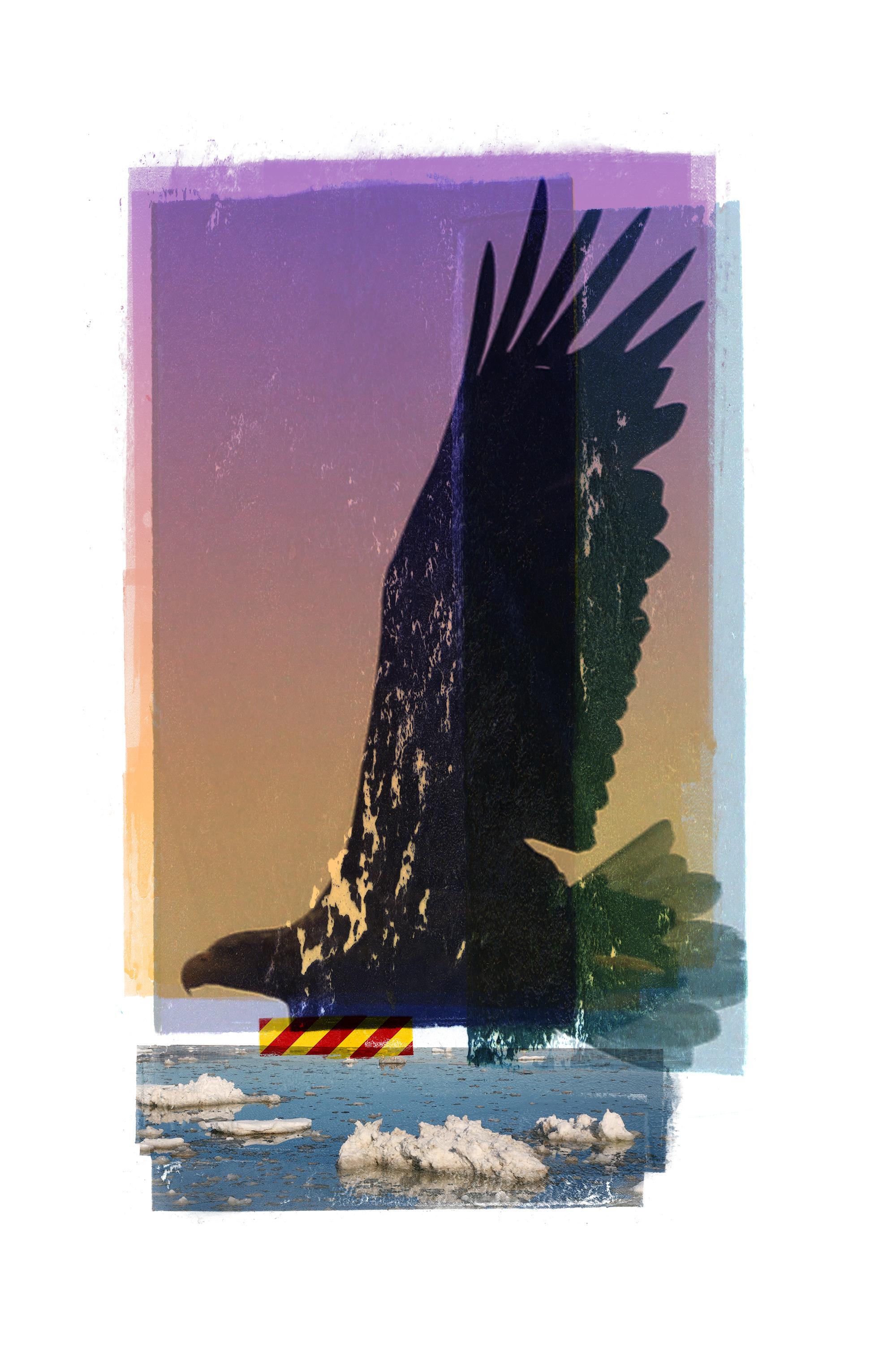 Aquila / River / Paris Accord (Lofoten)  Photolitho / IDEM PARIS / BFK Rives 250 gr, Handcut 38 x 58 cm / 15 x 22,8 in Edition of 100 + 15 Ap Editeur: IDEM PARIS / Per Fronth  13/2017: