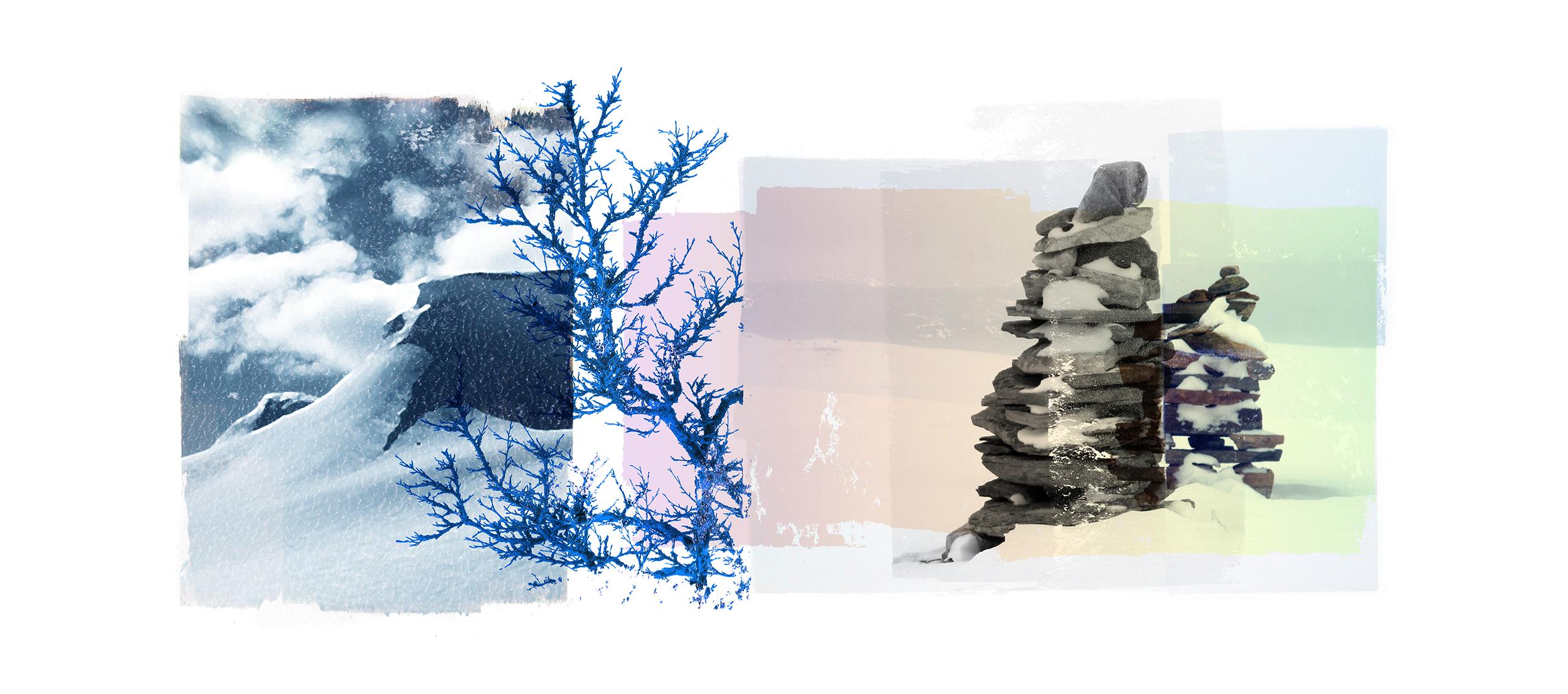 Reservoir / Blue Birch / Varde (Setesdal)  Original Archival UV Pigment Print / BFK Rives 250 gr 56 x 25 cm / 22 x 09 in Edition of 50 + 7 Ap Editeur: Per Fronth Studios / Printer Henrik Aunevik  21/2016: