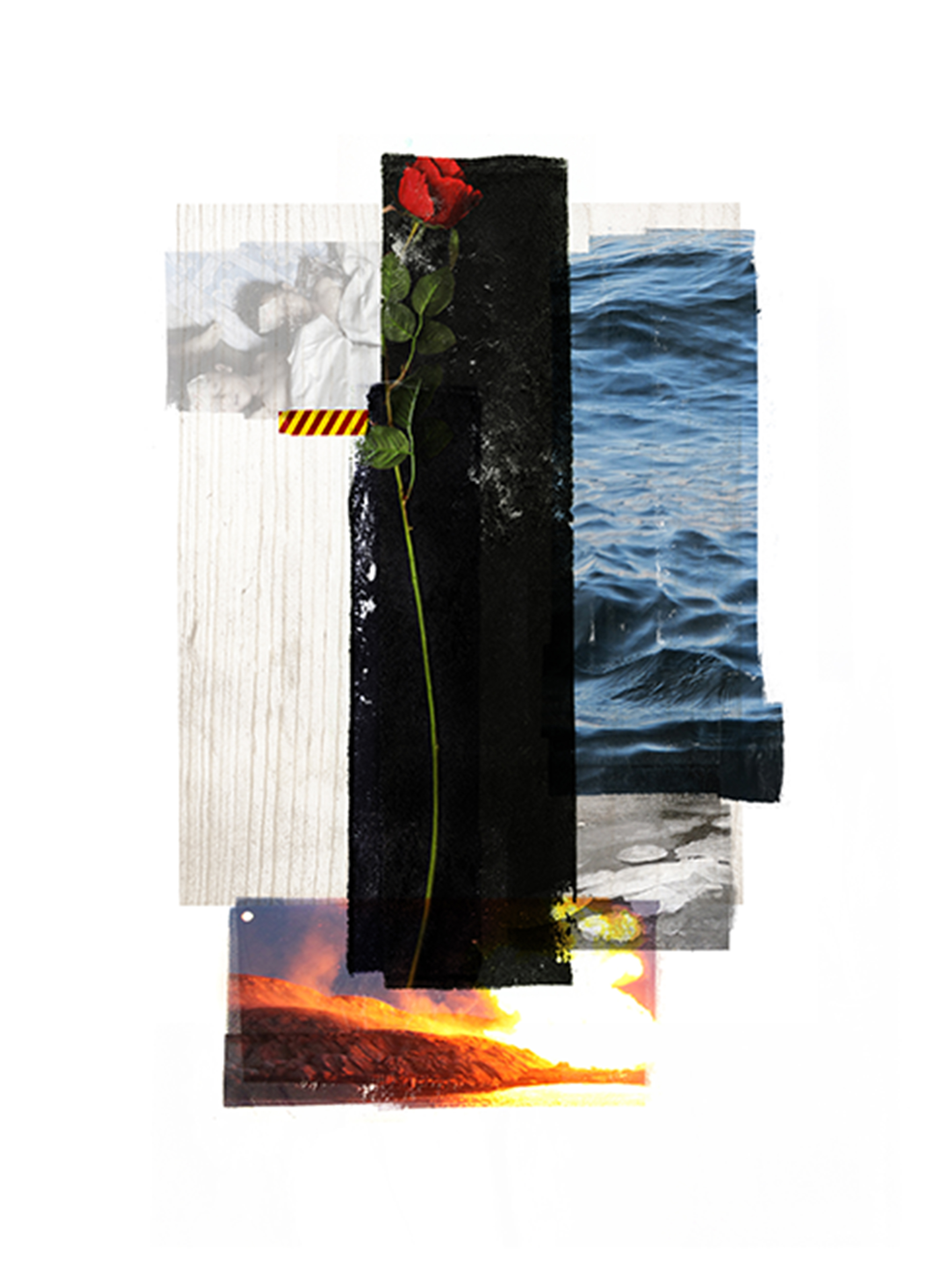 Rose / Wave / Study  Original Archival UV Pigment Print / BFK Rives 250 gr 18 x 25 cm / 7 x 9,8 in Edition of 50 + 7 Ap Editeur: Per Fronth Studios / Printer Henrik Aunevik  14/2015: