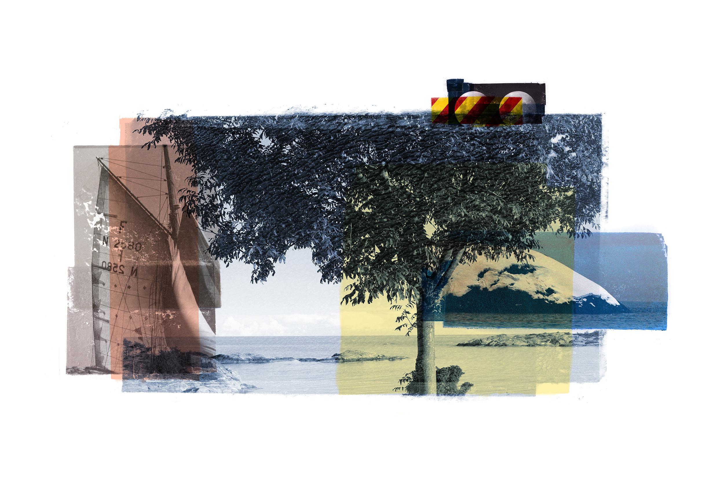 Desaturated Composition / NYH  Original Archival UV Pigment Print / BFK Rives 250 gr 56 x 35 cm / 13,7 x 22 in Edition of 50 + 7 Ap Editeur: Per Fronth Studios / Printer Henrik Aunevik  15/2015: