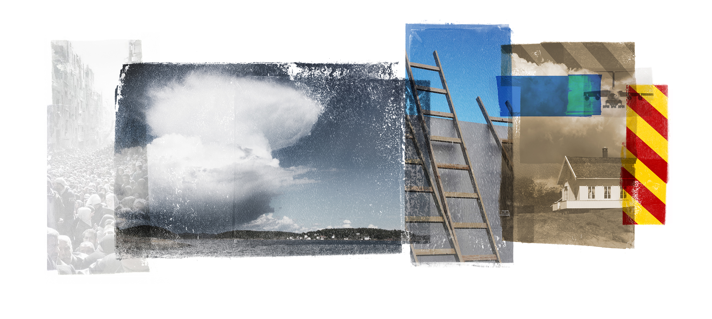 Cumulus II. ( Yarmouk / Sagesund ) Archipelago  Original pigment print / BFK rives 250 gr 56 x 25 cm / 22 x 9,8 in Edition of 50 + 7 Ap Editeur: Per Fronth Studios / Henrik Aunevik  04/2014:
