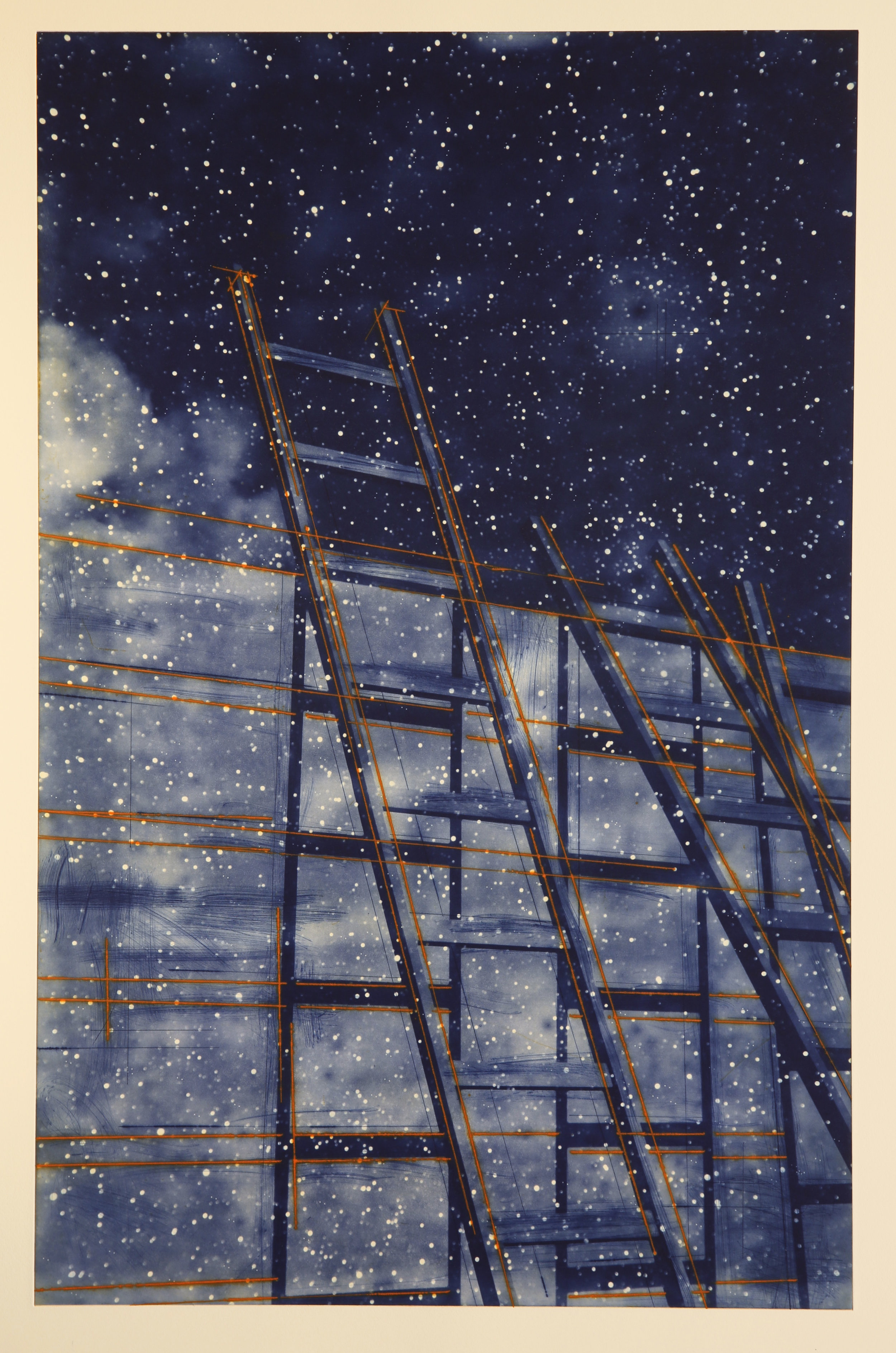 Venia / Estrella / Intermezzo / Opportunity ( The Wall)  Image size: 57 x 89 cm /Paper Size: 77 x 109 cm Drypoint / Photopolymer / Etching Edition of 40
