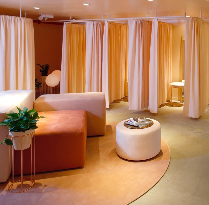 Benches, Ottomans & Fitting Room Curtains
