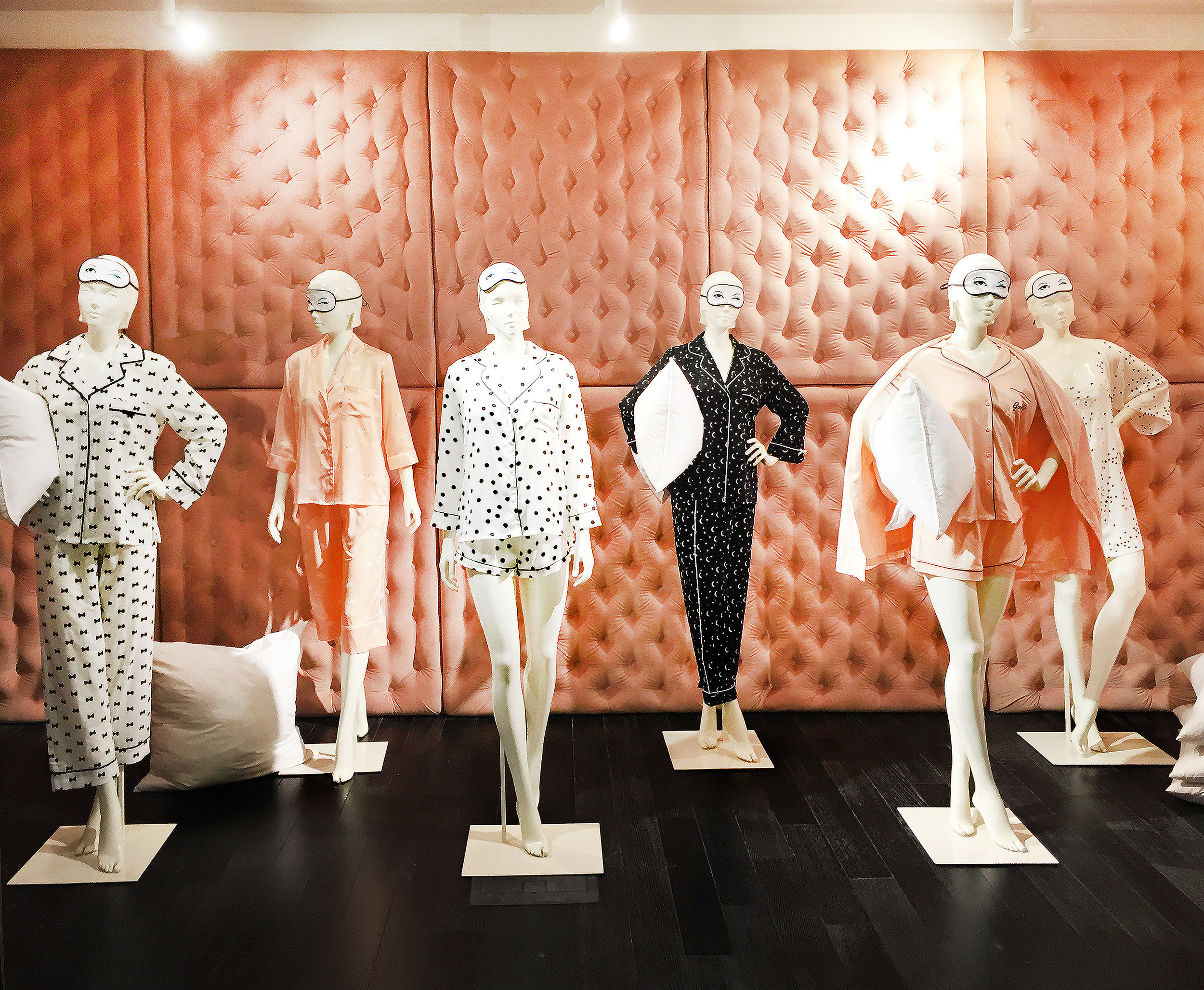 Tufted Wall Panels and Eye Masks for Kate Spade