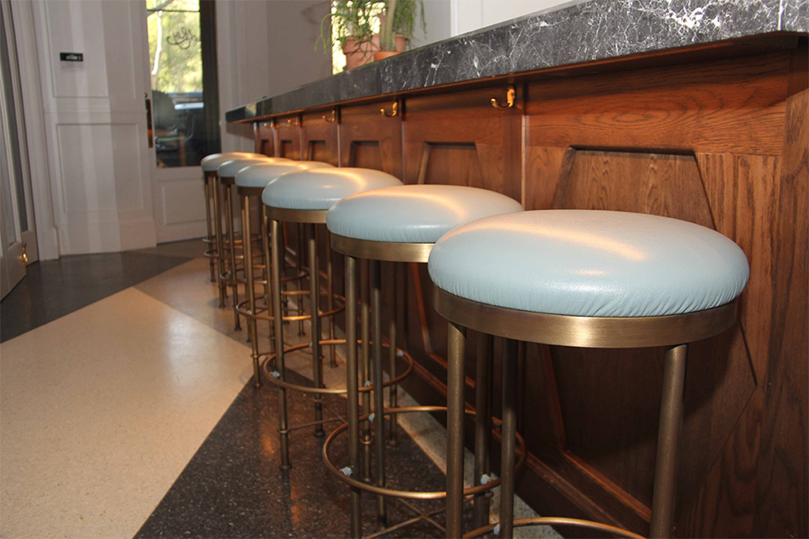Upholstered Stools for Todd Snyder