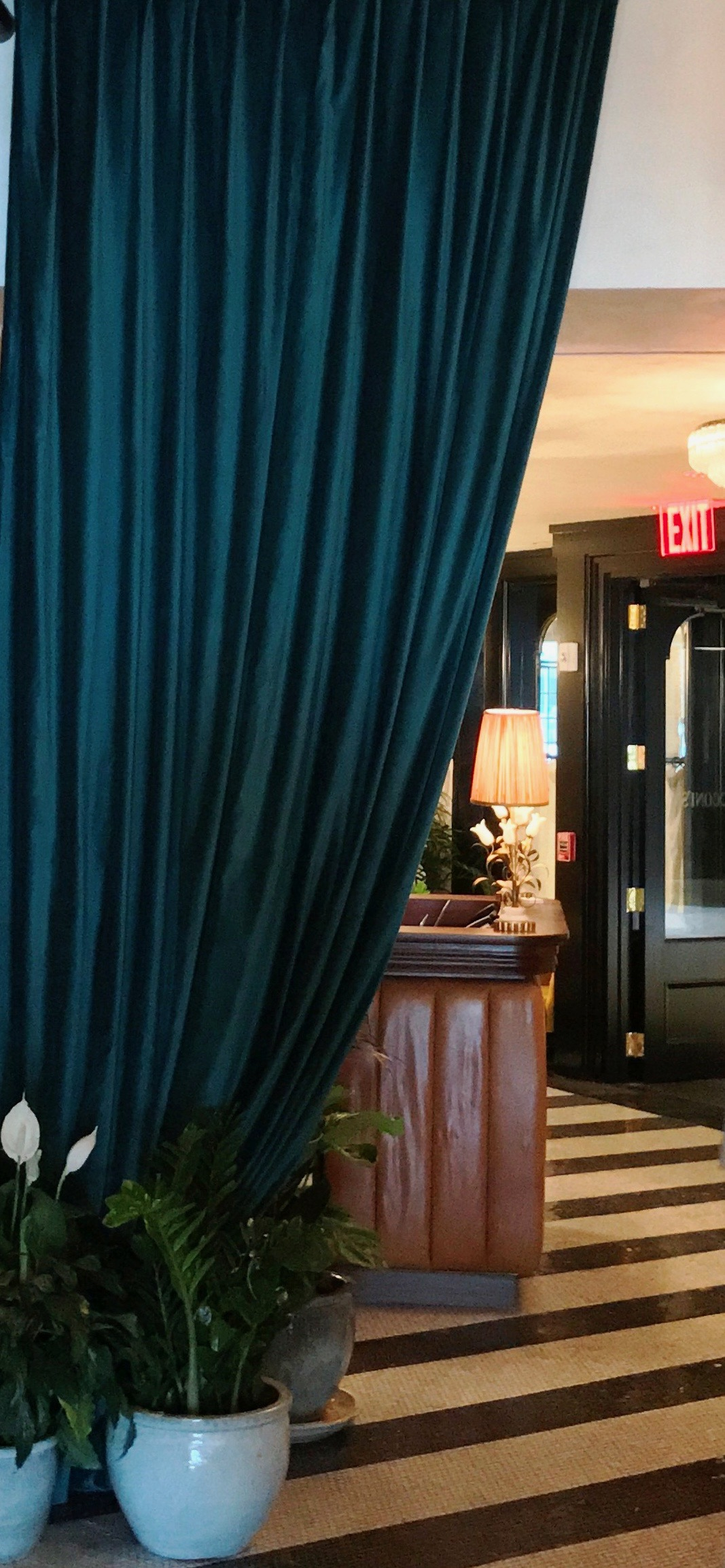 Teal Velvet Curtains For Cecconi's