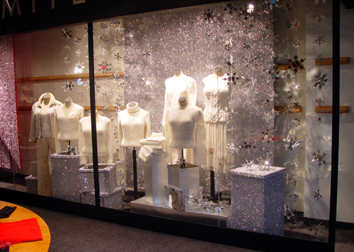 Snowflake Display with Shimmer Boxes