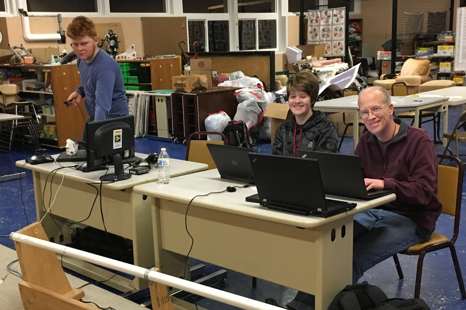 The programming team consists of two veterans working with the programming mentor. This year we have a lot of lines of code to write: approximately 4000-5000 lines.