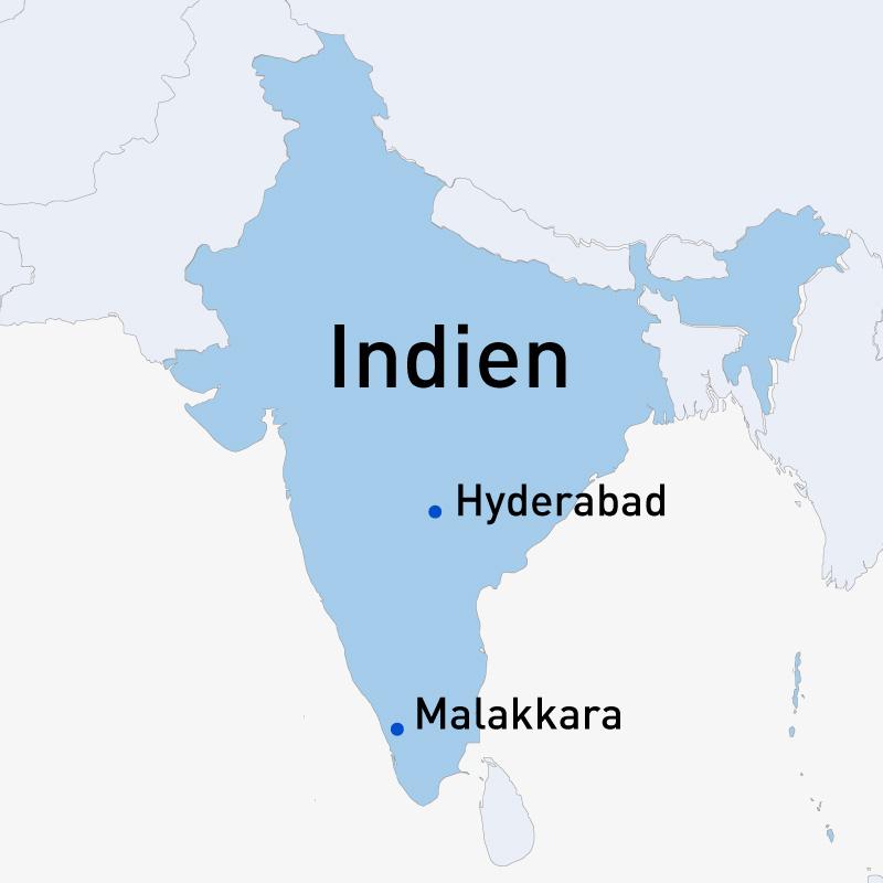 Indien - Hyderabad / Malakkara