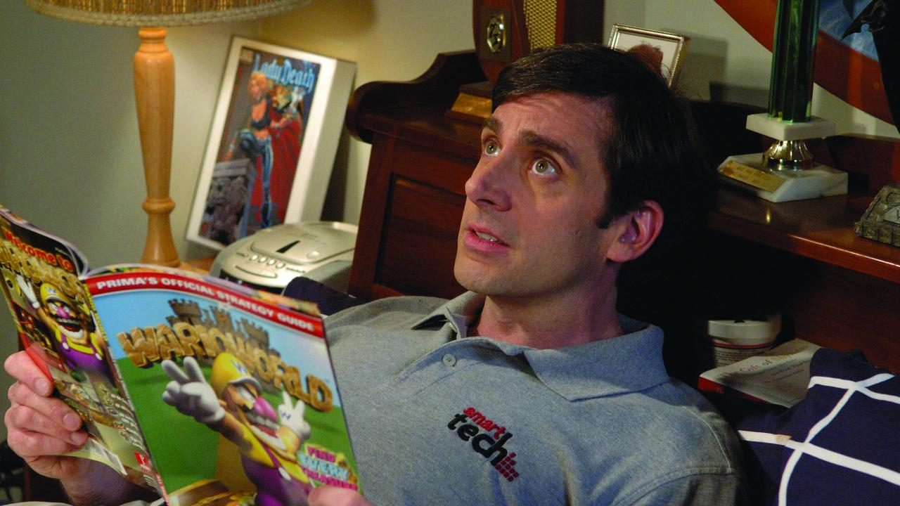 Andy, the 40 year old virgin, reading a Warioworld magazine.