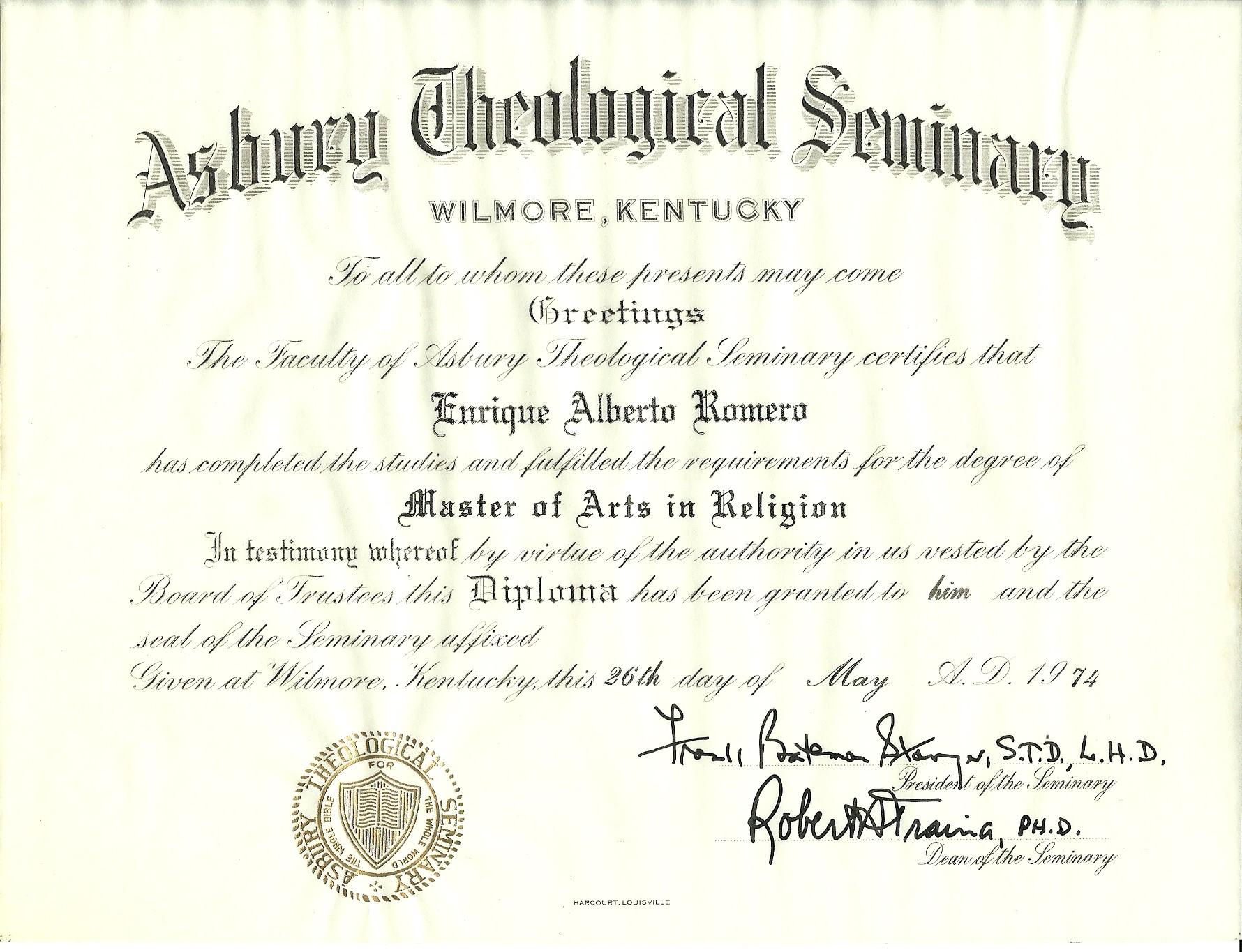 1974 - Asbury Seminary.jpg