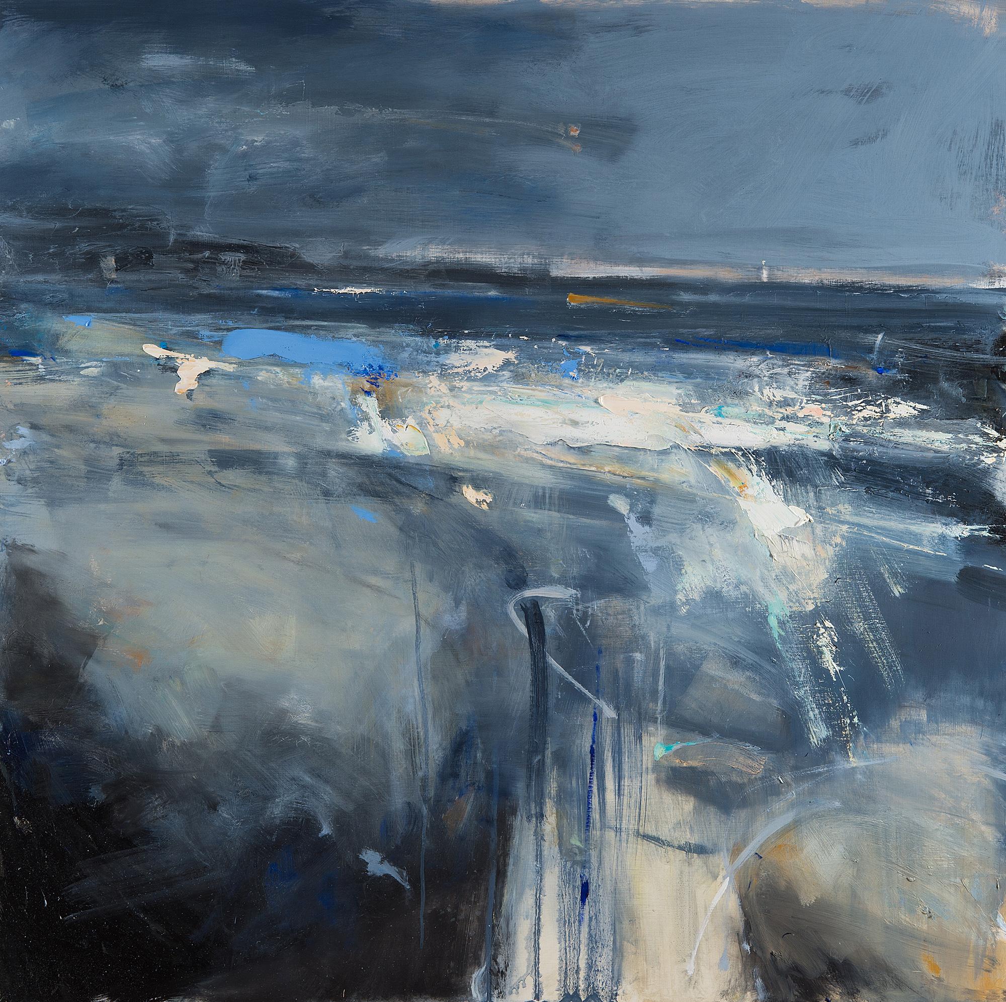 Evening Blue,Sennen Cove.  Oil on board.100 x 100cm  Sold