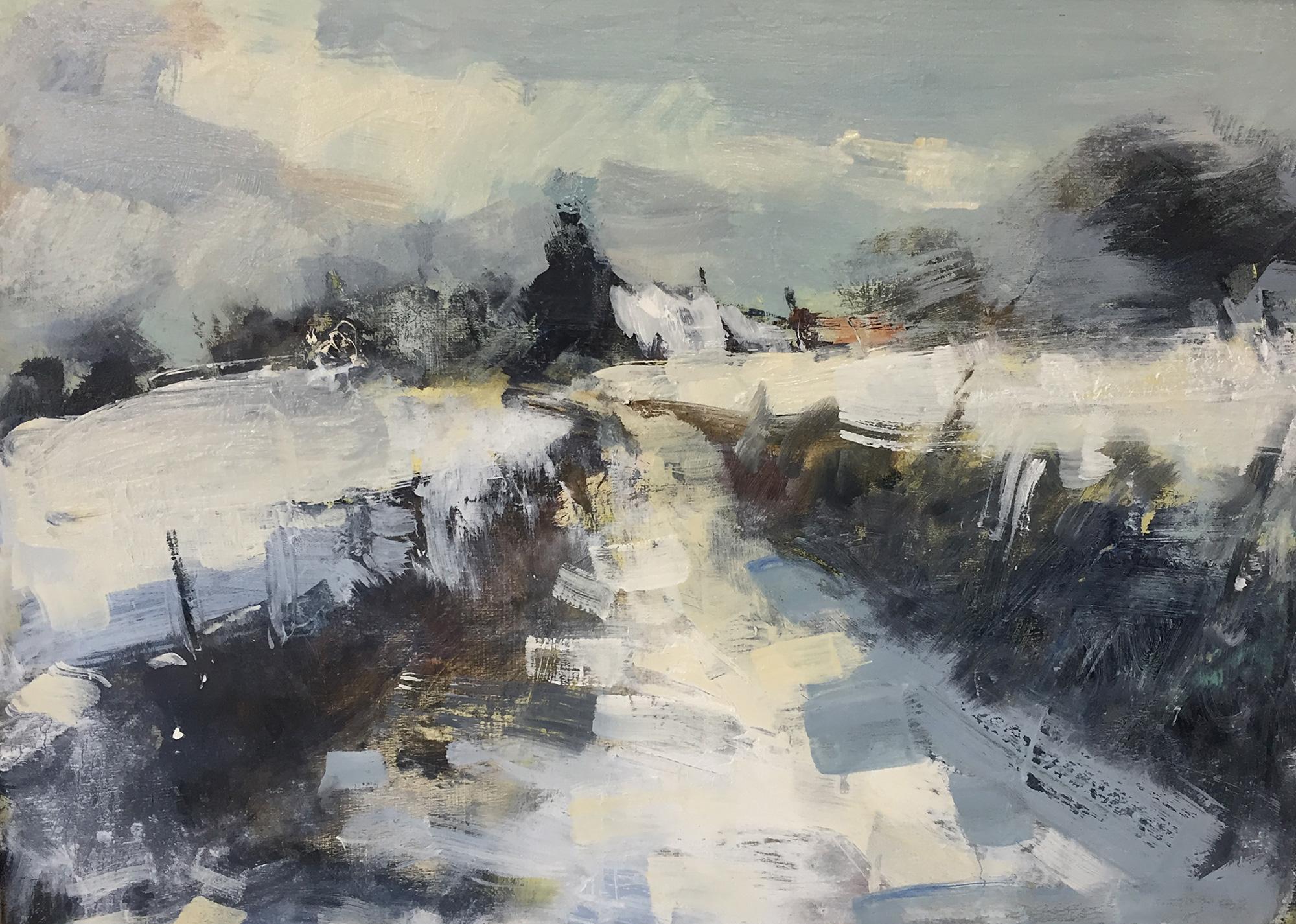 Cornish Winter Study.  Oil on board.25 x 35cm  Sold