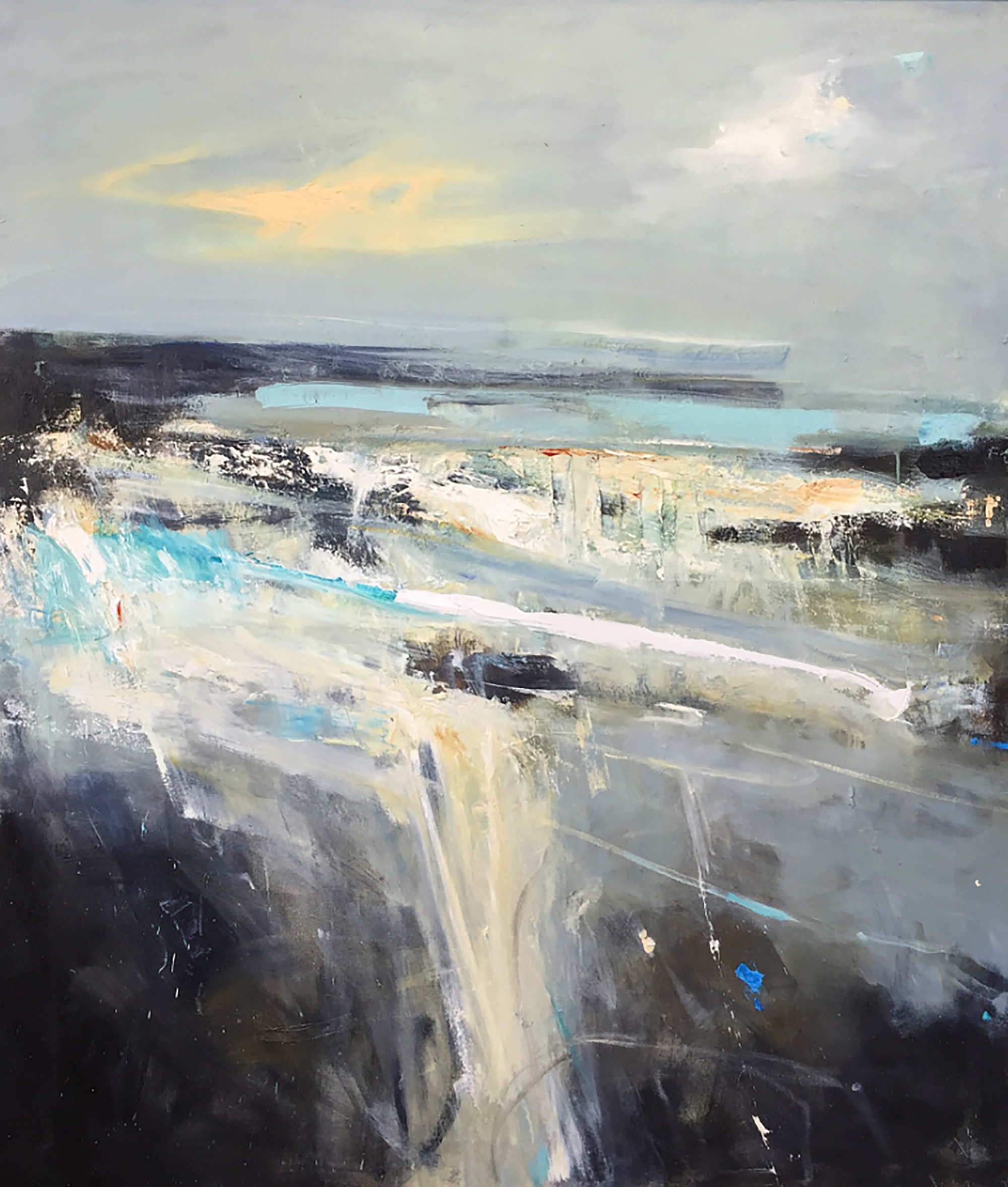 Between the Rocks,Sennen .Oil-on-canvas.136 x 115cm  Sold