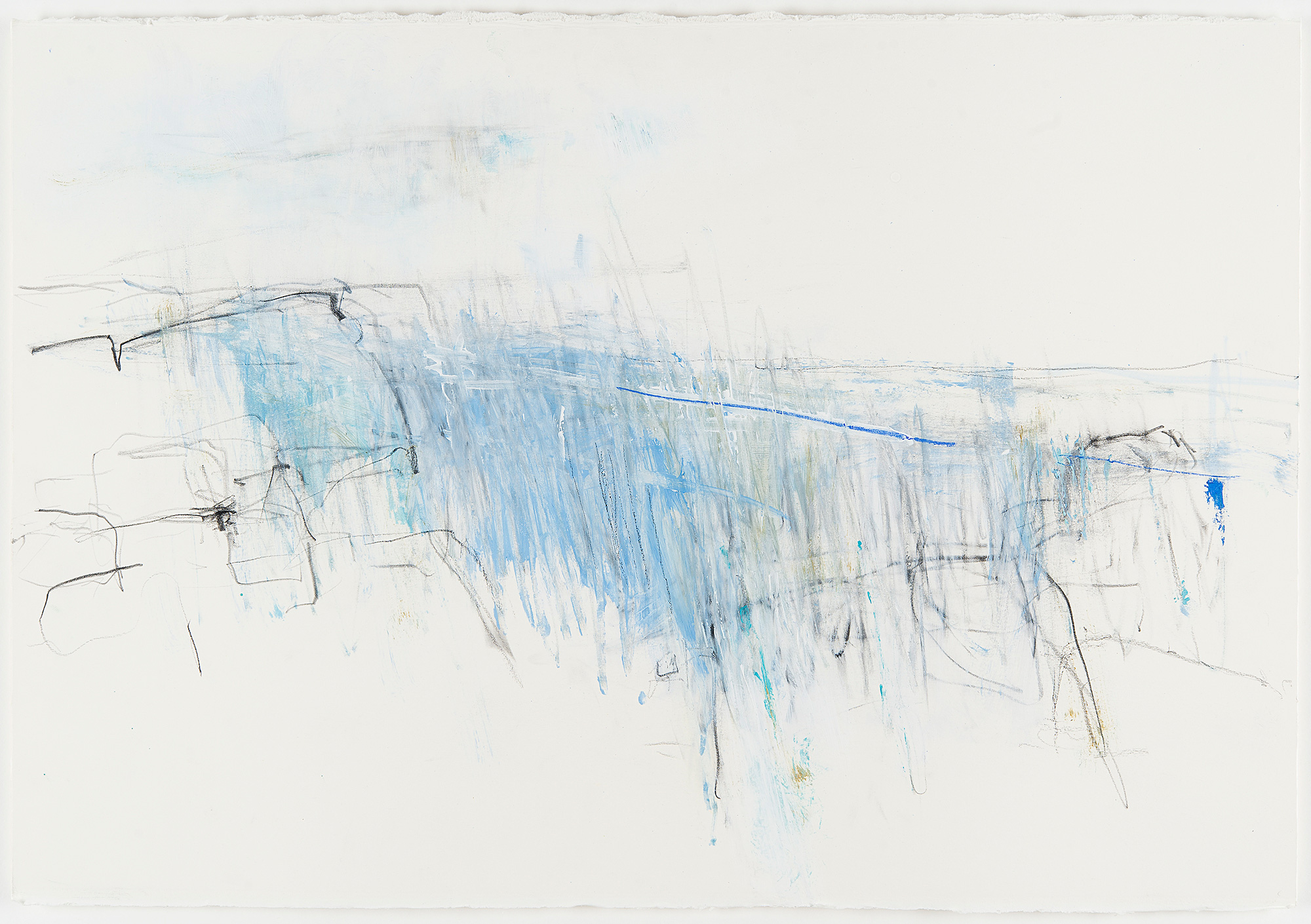 Blue Wave Study.  Pencil, oil and gesso on paper. 64 x 80cm  NFS