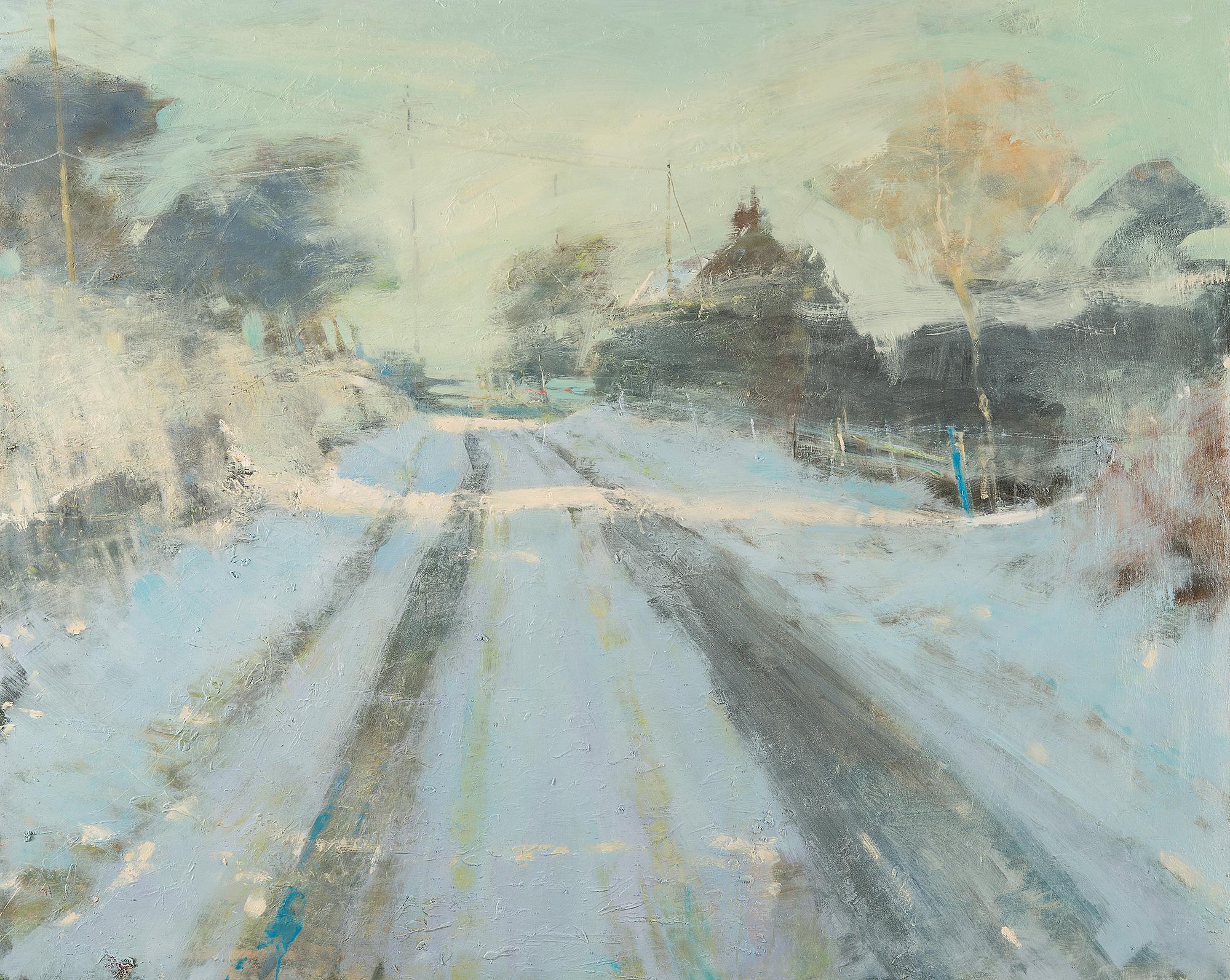 Late Sun, Cornish Winter.  Oil on board. 120 x 150cm  Sold