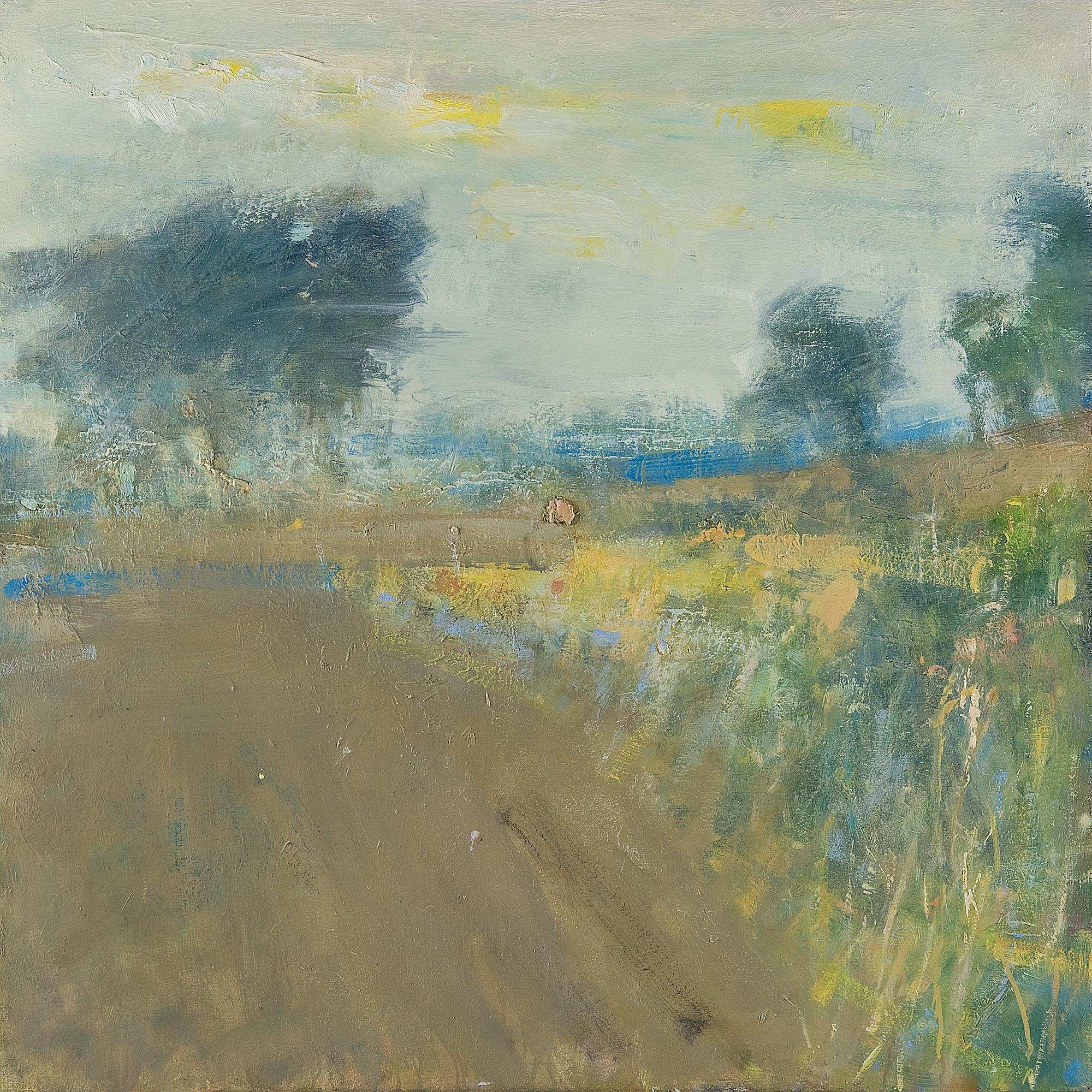 Autumn Fields Near Constantine.  Oil on board. 100 x 100cm.  Sold