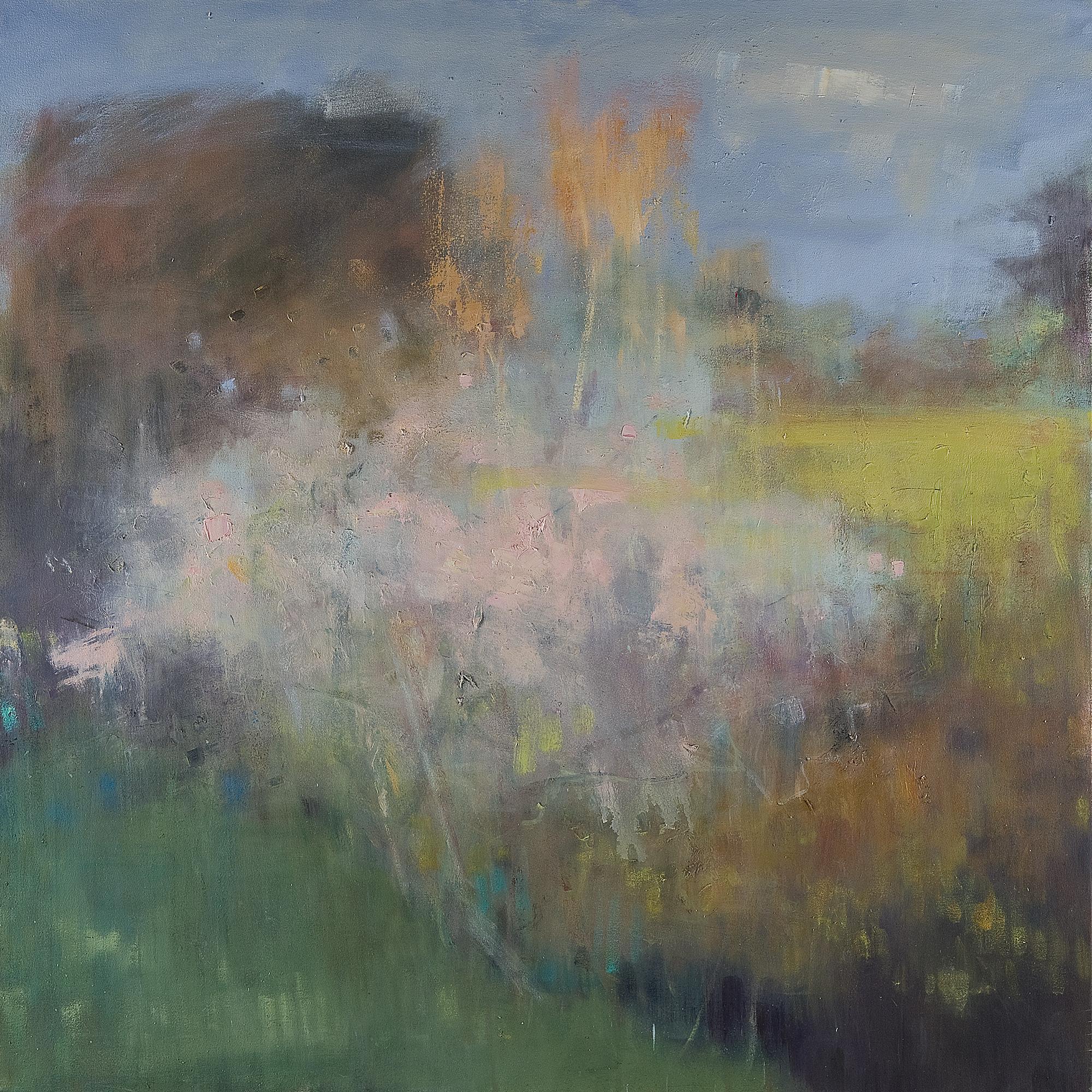 Spring Blossom, Caerhays.  Oil on canvas. 122 x 122cm.  NFS