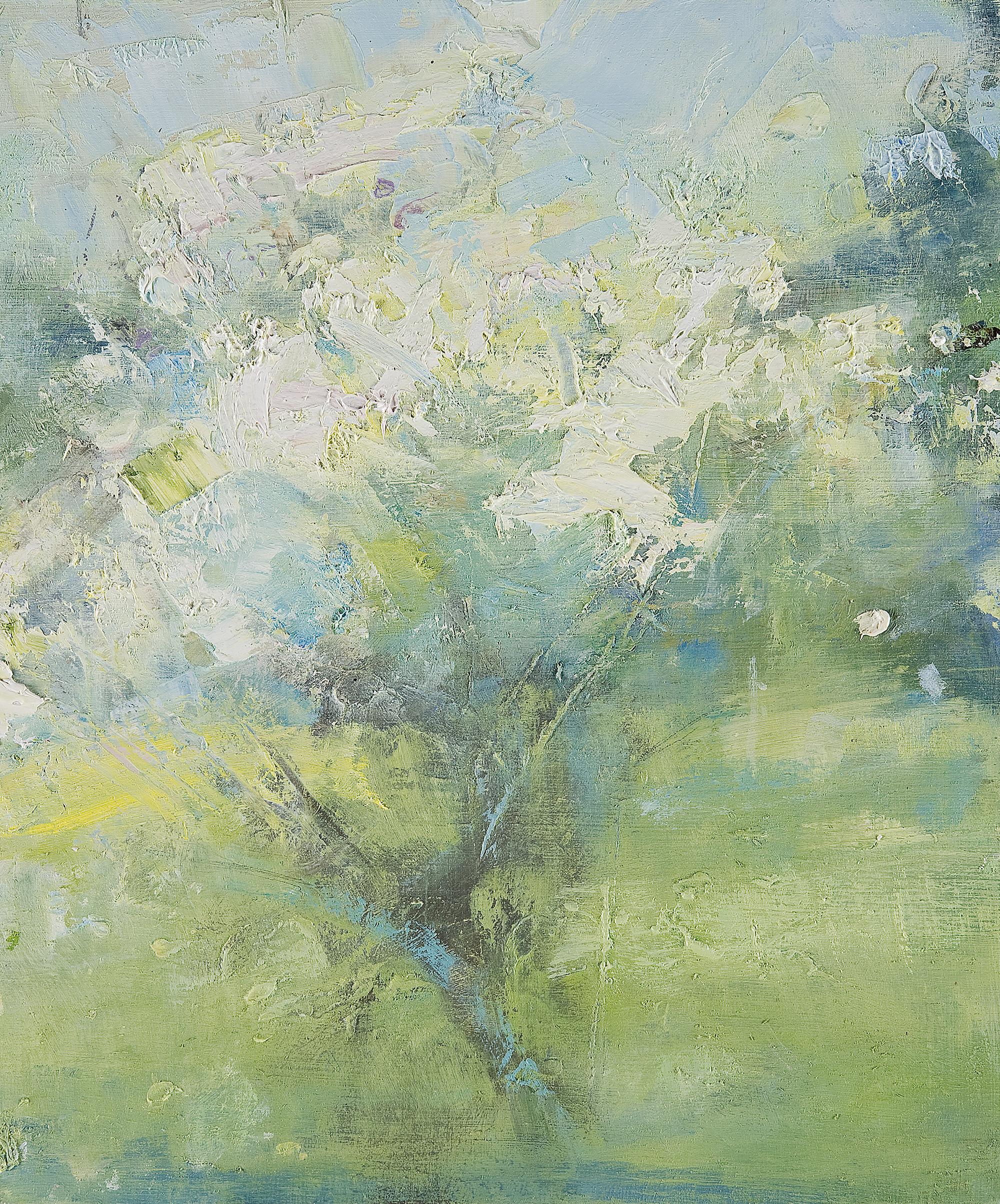 Study in a Cornish Garden III (Triptych). Oil on board. 30 x 25cm. Oil on board. 30 x 25cm.  Sold