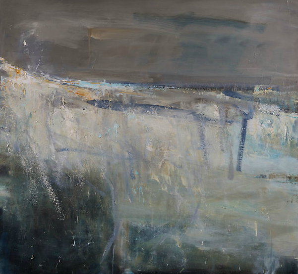Evening Swell, Godrevy.   Oil on board. 122 x 132cm.  Sold