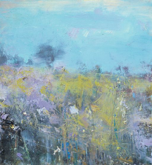 Purple Spring.  Oil on board. 26 x 24cm  Sold