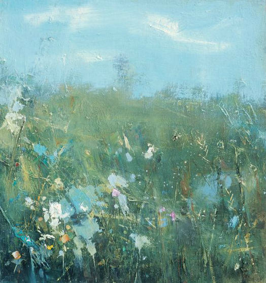 Spring Field Flowers, Early May.  Oil on board. 43 x 40cm.  Sold