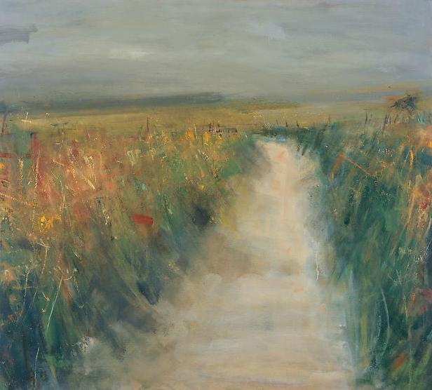 Autumn Lane.  Oil on board. 122 x 134cm  Sold