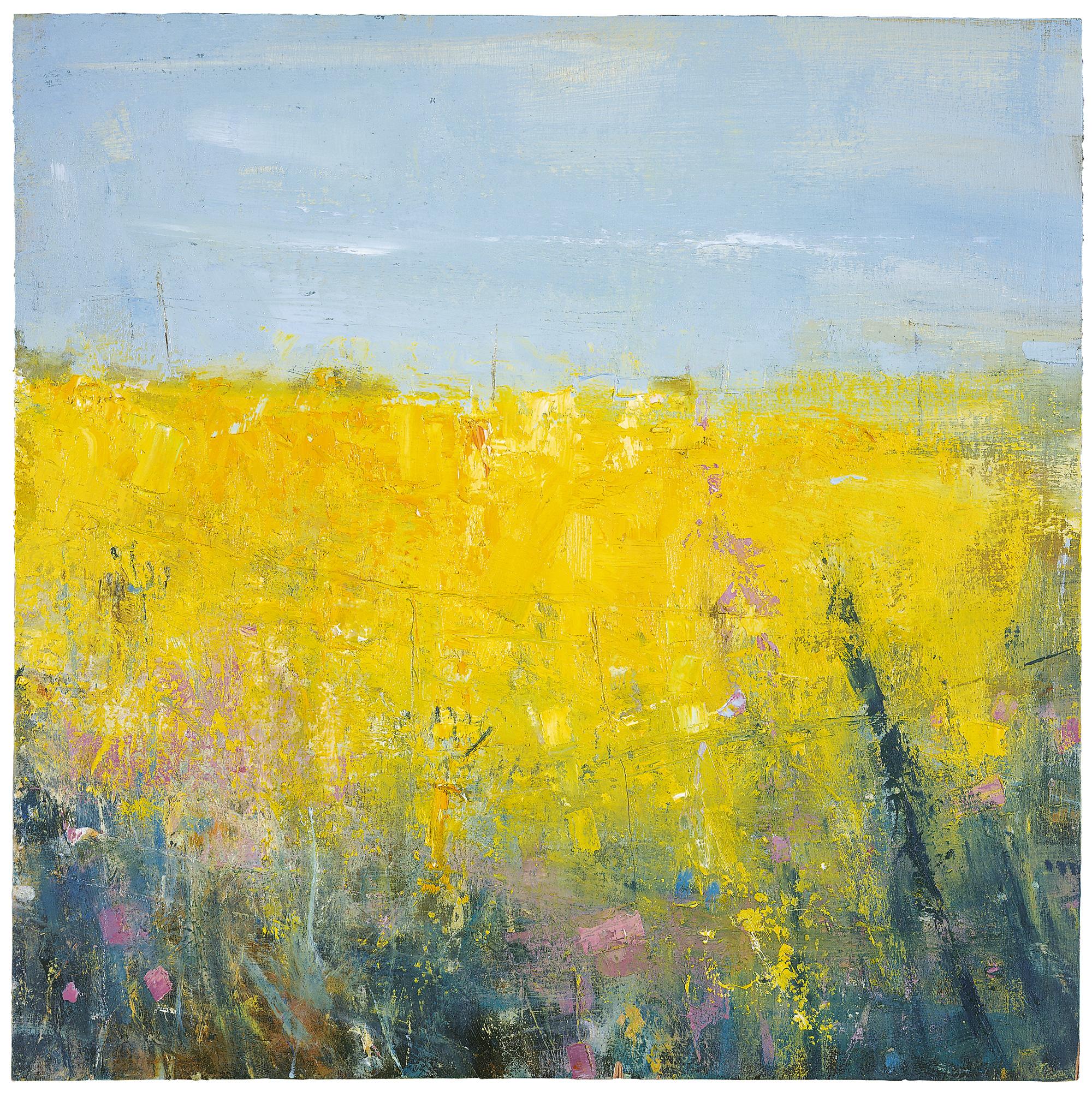 Cornish Spring.  Oil on board. 45 x 45cm  Sold